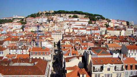 Sol i en av Europas billigste storbyer, Lisboa.